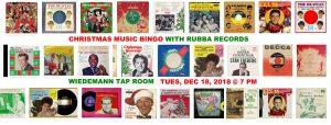 Christmas Music Bingo w/Rubba Records