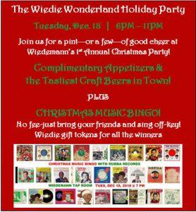 Wiedie Wonderland Holiday Party