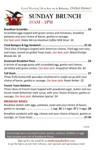 Wiedemann's Brunch at the Taproom