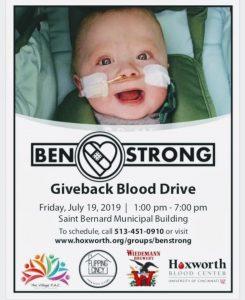 Ben Strong Blood Drive